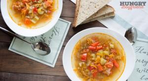 Овощной суп с чечевицей - рецепт с фото