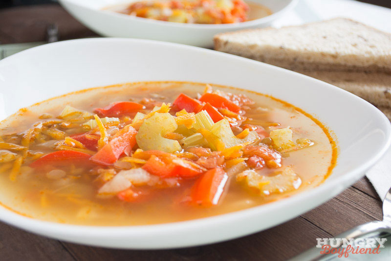 Суп с чечевицей гото