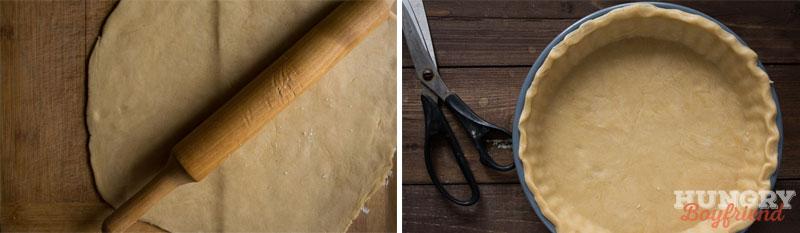 Раскатываем тесто и выкладываем в форму