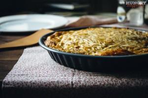 Запеканка из кабачков с сыров в духовке готова