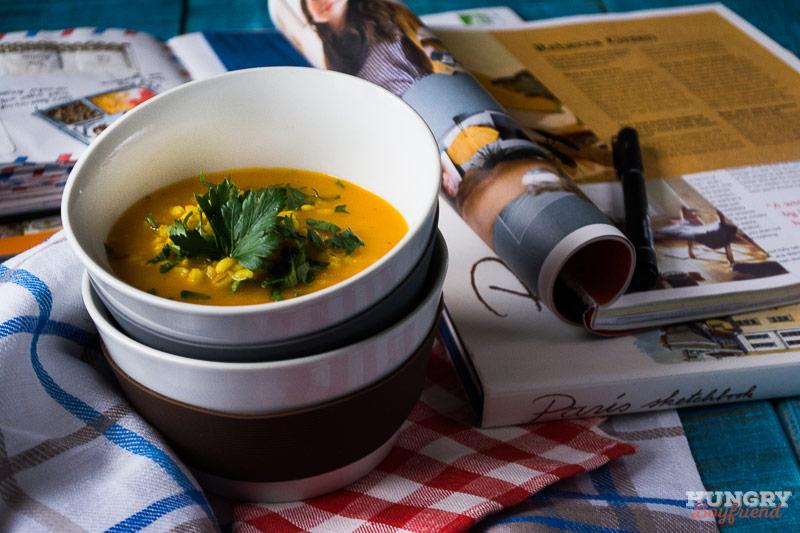 Пряный перловый суп готов