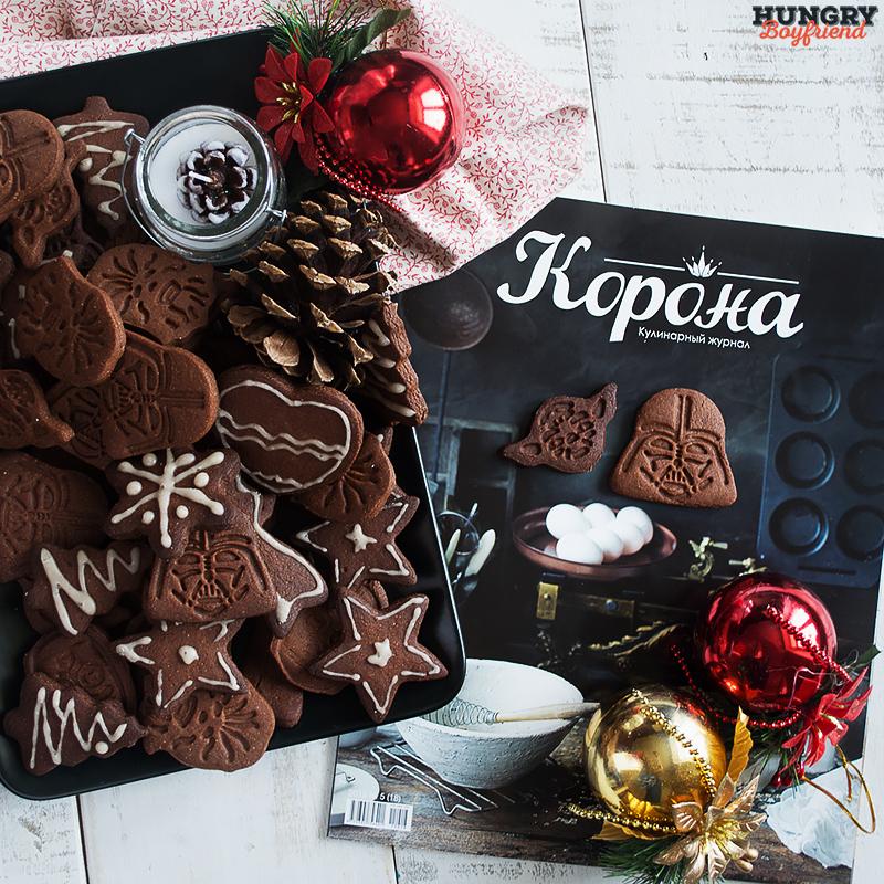 Имбирно-шоколадное печенье готово