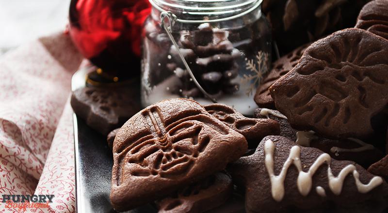 Рождественское имбирно-шоколадное печенье