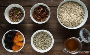 Ингредиенты для гранолы