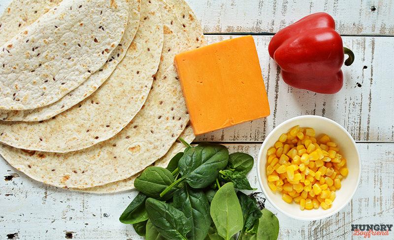 Ингредиенты для кесадильи с сыром