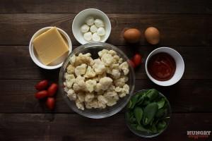Ингредиенты для пиццы из цветной капусты
