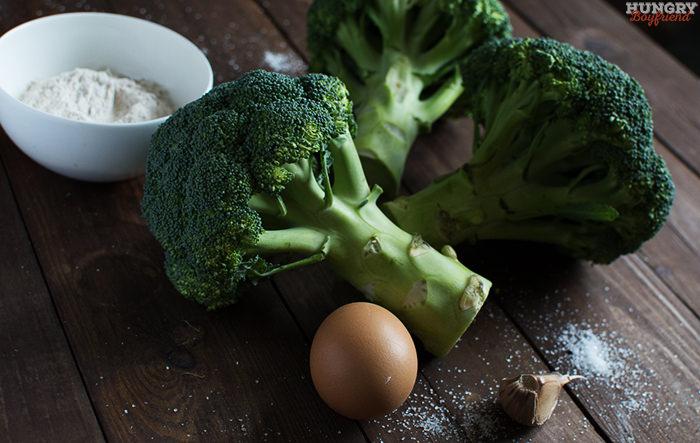 Ингредиенты для оладий из брокколи