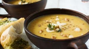 Суп пюре из батата и красной чечевицы