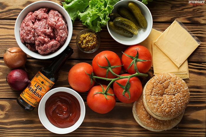 Ингредиенты для приготовления домашнего бургера