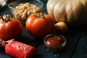 Ингредиенты для рагу из тыквы