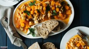 Рагу из тыквы с белой фасолью - пошаговый рецепт с фото