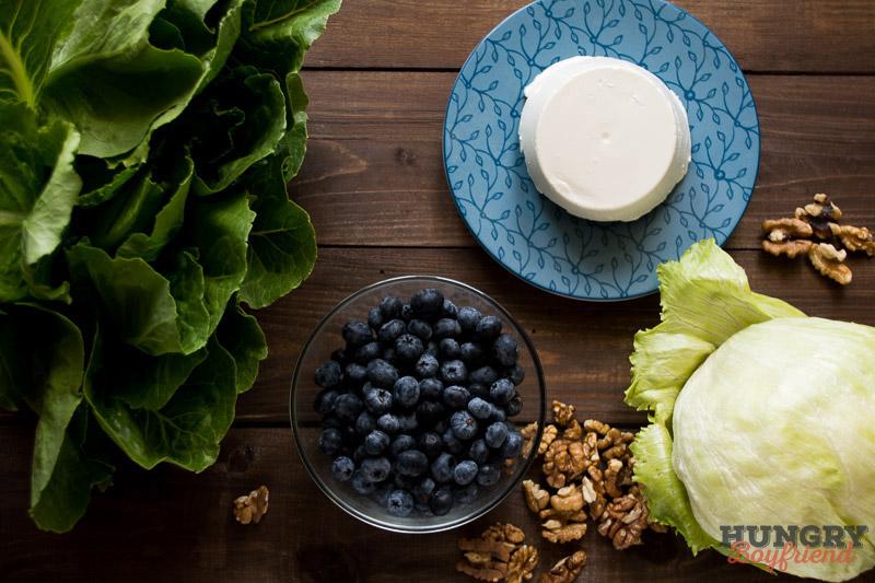 Ингредиенты для салата с голубикой