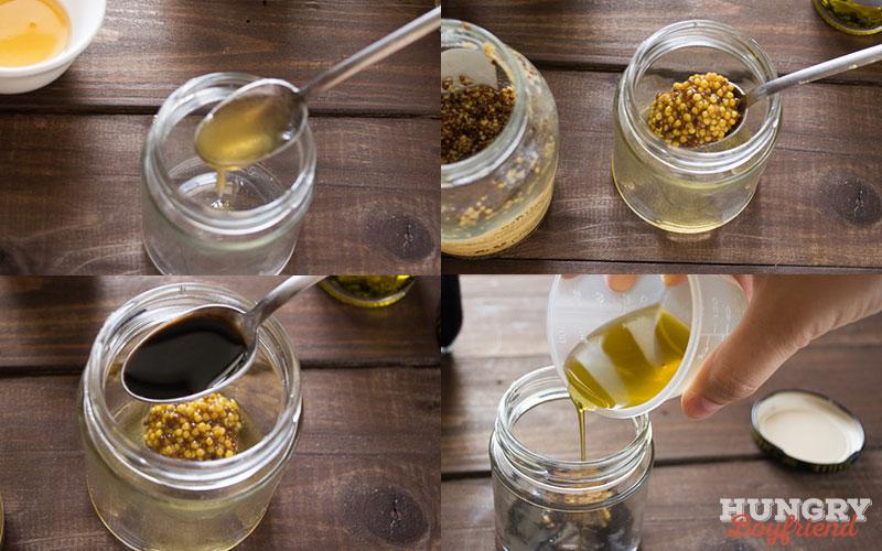 Готовим заправку с бальзамическим уксусом, медом и горчицей