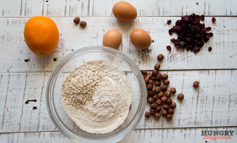 Ингредиенты для бискотти