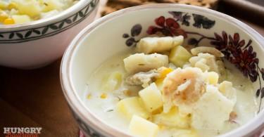 Молочный рыбный суп с кукурузой - пошаговый рецепт с фото