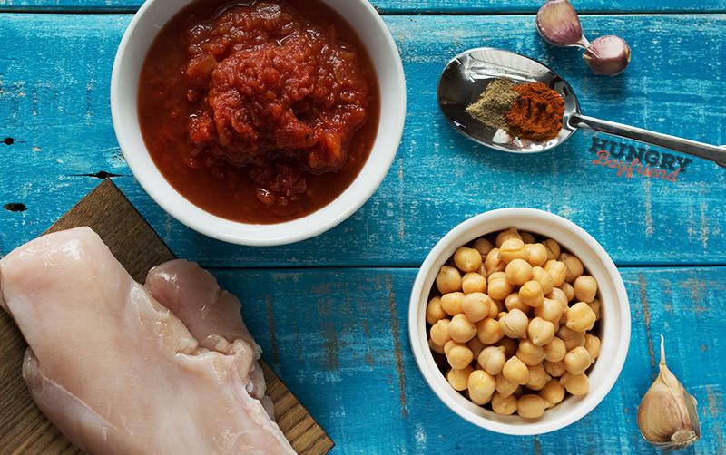 Ингредиенты для супа с нутом и курицей