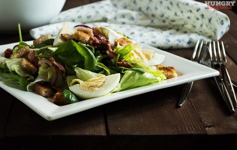 Салат со шпинатом готов