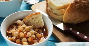 Суп с нутом и курицей - пошаговый рецепт с фото