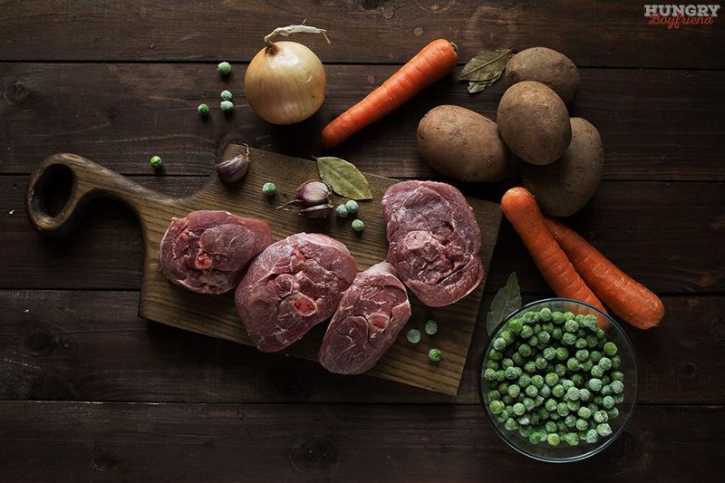 Ингредиенты для рагу из индейки с овощами