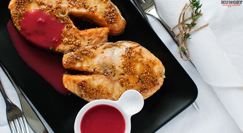 Семга с клюквенным соусом - пошаговый рецепт с фото