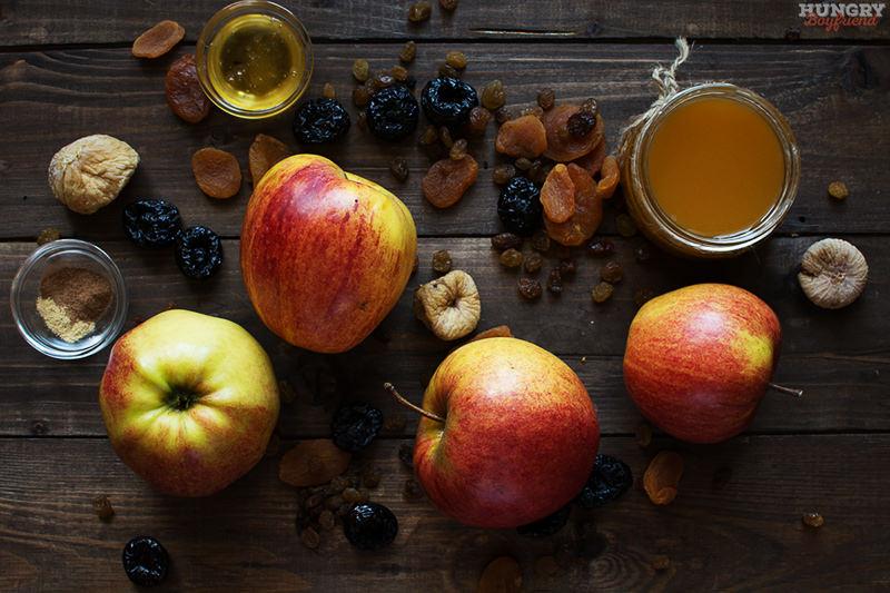 Ингредиенты для запеченных в духовке яблок