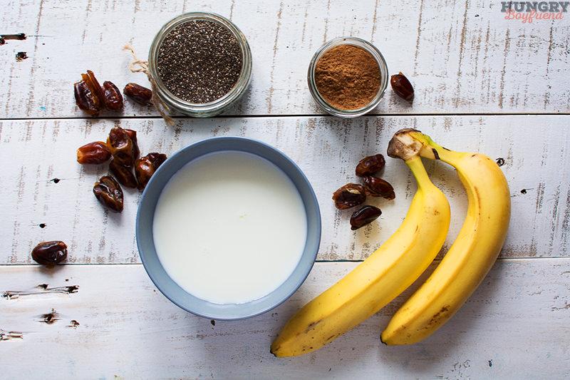 Ингредиенты для пудинга из семян чиа