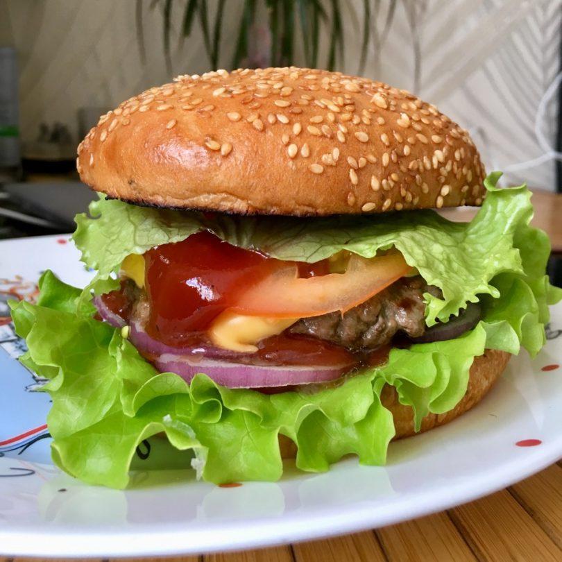 все поля как сделать гамбургер в домашних фото краям рама, которая